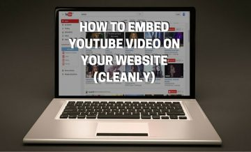 How to embed Youtube video on your website cleanly