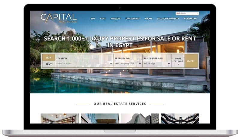 Real Estate Web Design Laptop